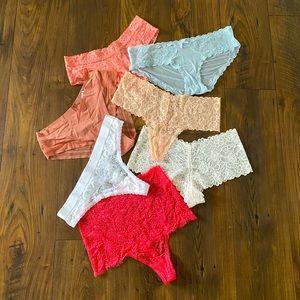 Bundle of 7 Victoria's Secret Panties, L